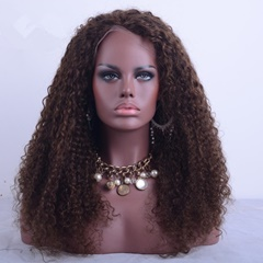 Best Selling Afro Kinky Curl Human Hair Lace Wig Peruvian Hair Full Lace Wig