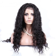 Stock Peruvian Virgin Hair 130% Density Deep Wave Full Lace Wig