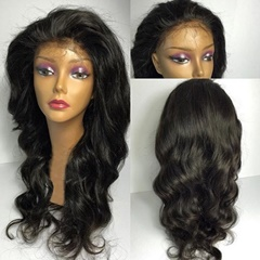 Hot Sale Brazilian Unprocessed Virgin Hair 16inch Wave Glueless Full Lace Wig