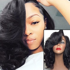 Brazilian Virgin Human Hair 16Inch Loose Wave Lace Front Wig In Stock