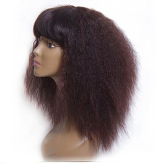 Hot selling wholesale 100% afro curl virgin human hair lace front wig hair wig