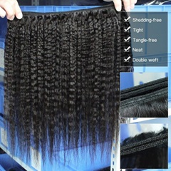 100% Unprocessed Virgin Mink Hair Kinky Straight Hair Weave
