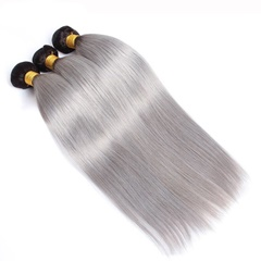 Cheap Price Brazilian Virgin Human Hair #1B/Grey Hair Bundle