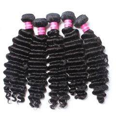 Top Quality Virgin Peruvian Human Hair Deep wave Hair Weft