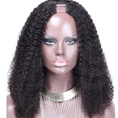 Hot Sale Kinky Curl Indian Remy Hair U Part Wig