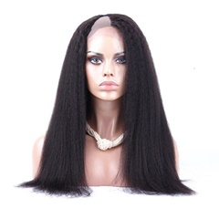 Tangle Free Wigs 100% Virgin Brazilian Human Hair U Part wig