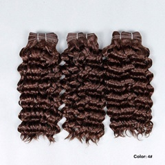 Grade 9A Virgin Human Hair Deep Wave Hair Bundle, 3Pieces/lot