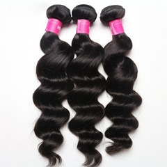 Wholesale Brazilian virgin hair loose wave human hair weaves