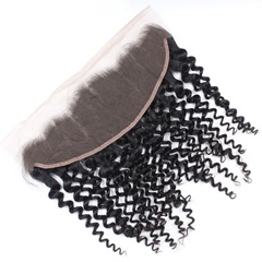 Stock Unprocessed Virgin Hair Jerry Curl Lace Frontal