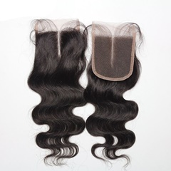 100% Virgin Mink Hair Body Wave Middle Part Lace Closure