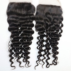 Grade 9A Virgin Human Hair Deep Wave Silk Base Closure