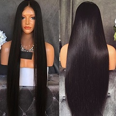 32 INCH Silky Straight 100% Virgin Remy Brazilian Human Hair Full Lace Wig