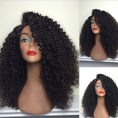 Indian 6A grade 22inch kinky curl human hair full lace wig