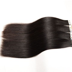 Grade 9A Virgin Human Hair Silk Straight Tape Hair Extension
