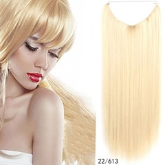 Classic Style Thick Bottom Double Drawn flip halo in hair