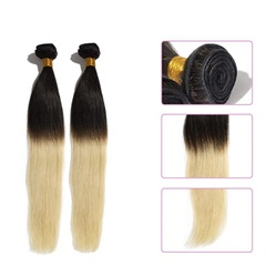 virgin indian human hair wefts 2 tone color braiding hair