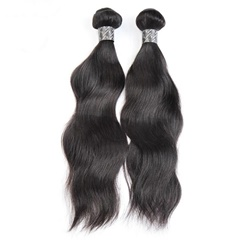 High quality silky Nature wavy Brazilian human hair Bundles