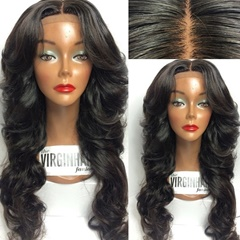 Wholesale virgin brazilian hair full lace wig with baby hair