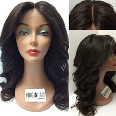 Unprocessed Tangle Free Human Hair Wholesale/100 Brazilian Virgin Hair Full Lace Wigs