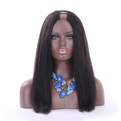 Hot Selling High Density Brazilian Human Hair Kinky Straight U Part Wig