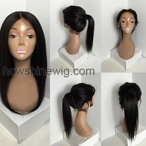 Factory direct sale 100% human hair straight full lace wig