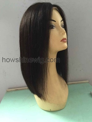 Stright human hair wig