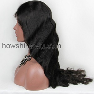 Wholesale 100% Virgin Human Hair 24Inch Body Wave Full Lace Wig With Baby Hair