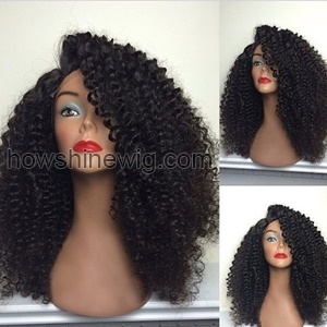 INDIAN 6A grade kinky curl human hair full lace wig