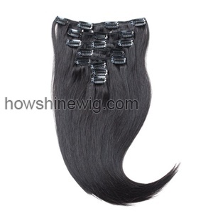 Silk straight hair