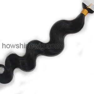 Double sided tape hair extension