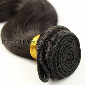Braid in weave braid in human hair bundles