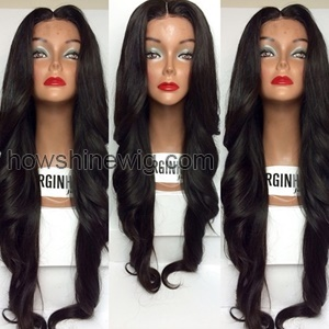 Middle part full lace wig