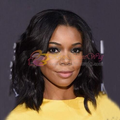 9A Short Wave 10inch Full Lace Human Hair Wigs For Black Women Brazilian Virgin Hair