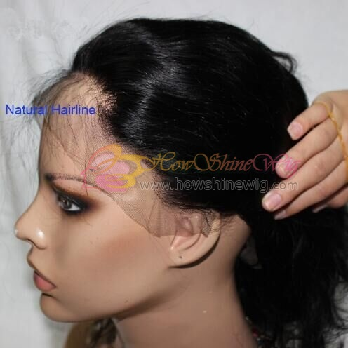 Natural hairline full lace wig