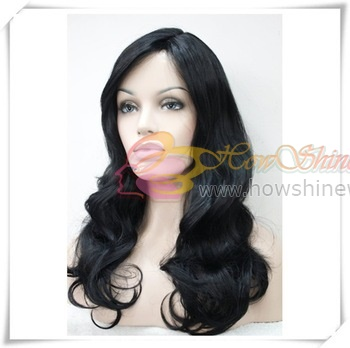 2016 New Style 9A Grade Virgin Human Hair Wavy Lace Front Wig