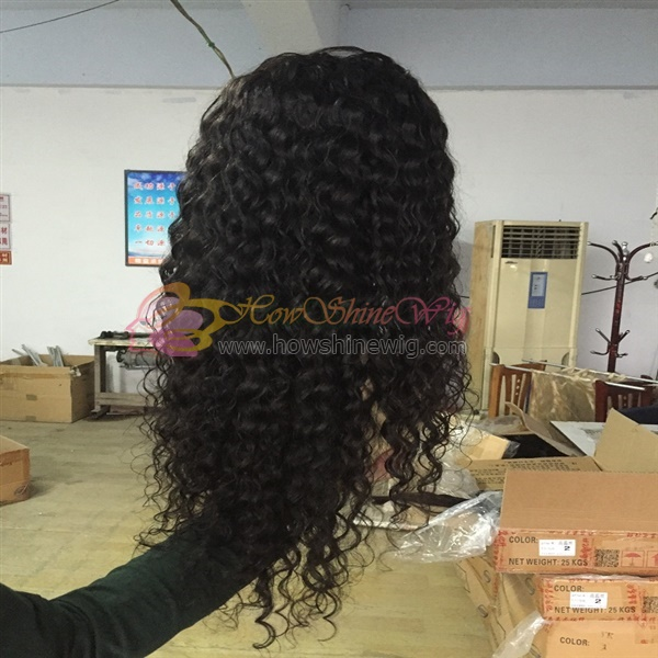 Factory Wholesale 100% Unprocessed Virgin Human Hair Full Lace Wig