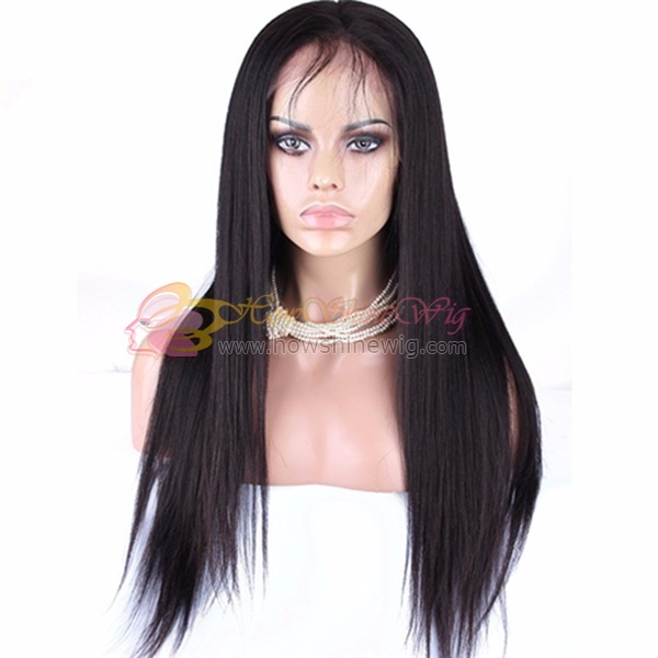 Can be dyed and bleached full lace wig ponytail
