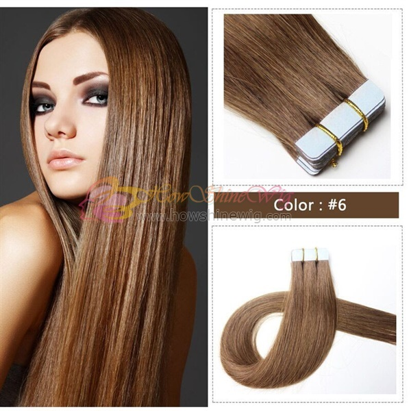Wholesale Tape In Hair Extentions Natural Looking 100% High Grade Brazilian Human Tape Hair