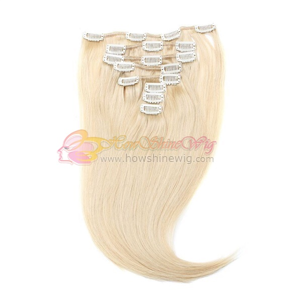 Best quality 100% human hair clip in extensions