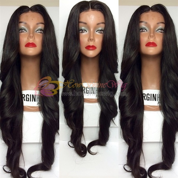 Wholesale Brazilian Human Hair wig Middle Part Human Hair Full Lace