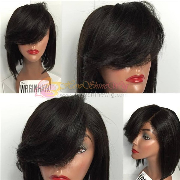 2016 Best Selling Wholesale Factory Price Cuticles Remy Hair short brazilian hair full lace wig